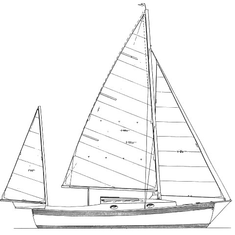 Rob Roy 23 drawing on sailboatdata.com