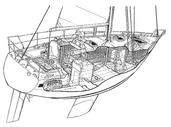 Romanee drawing on sailboatdata.com