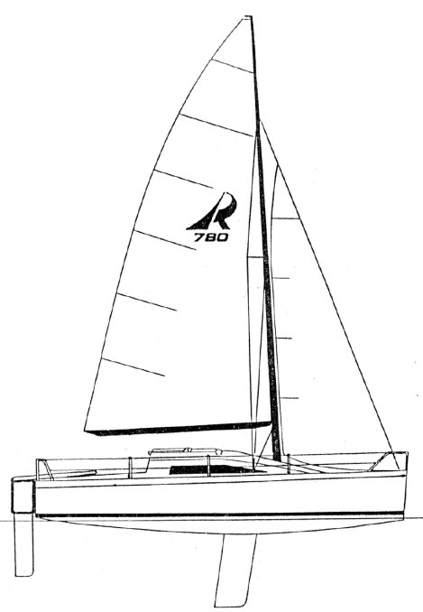 Ross 780 drawing on sailboatdata.com