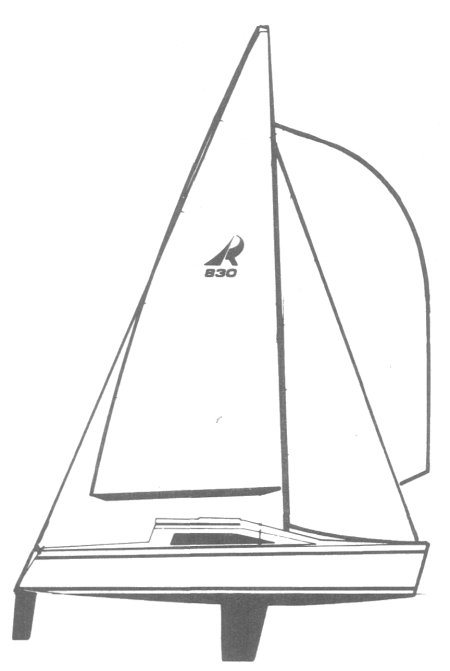 Ross 830 drawing on sailboatdata.com