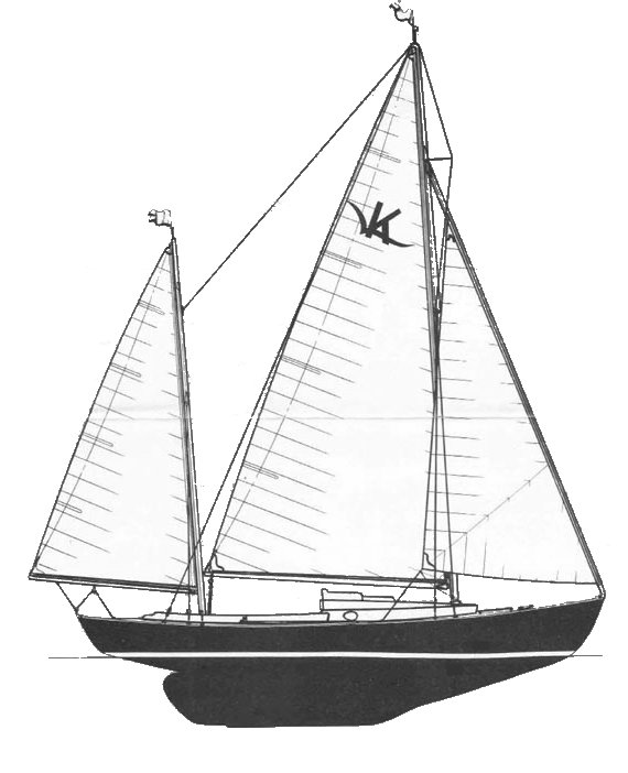 Rozinante drawing on sailboatdata.com