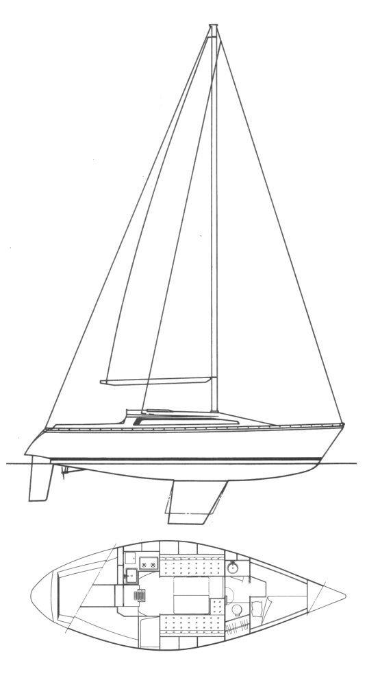 RUSH 31 (JEANNEAU) drawing