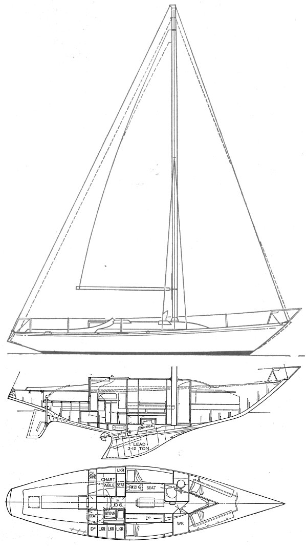 S&S ONE TON - 1966 drawing