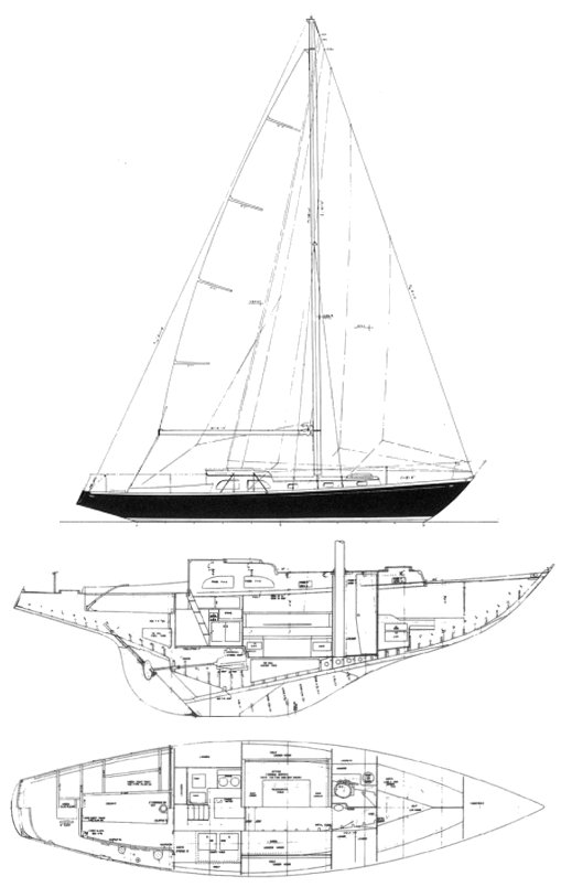 S&S 40 (1964) drawing on sailboatdata.com