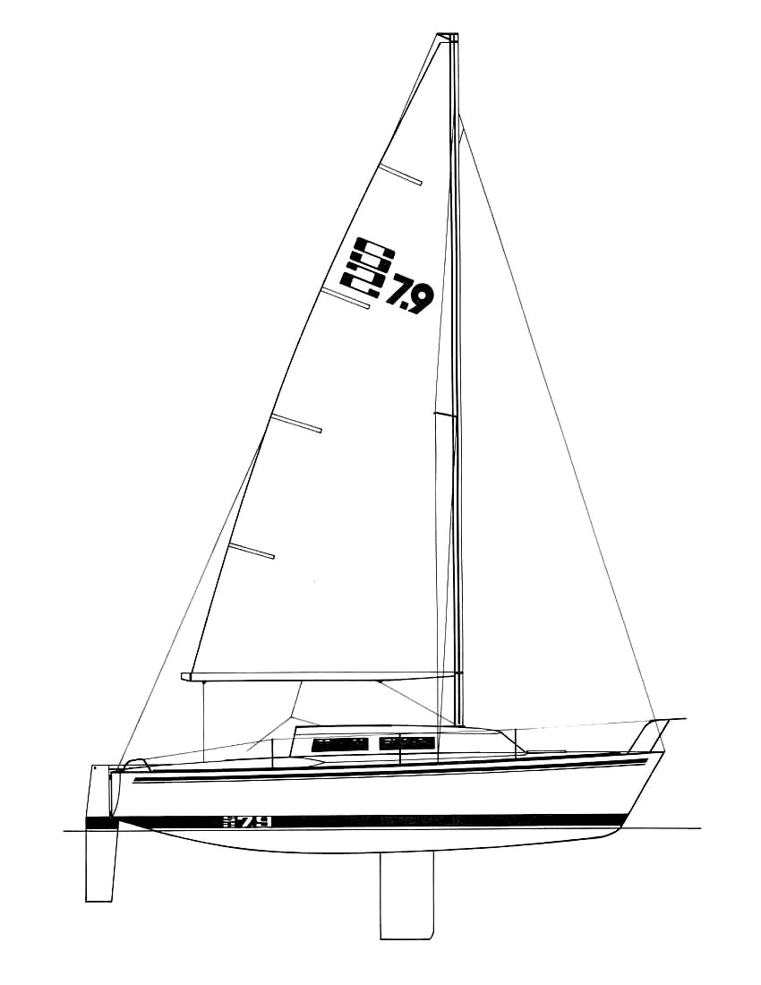 S-2 7.9 drawing on sailboatdata.com