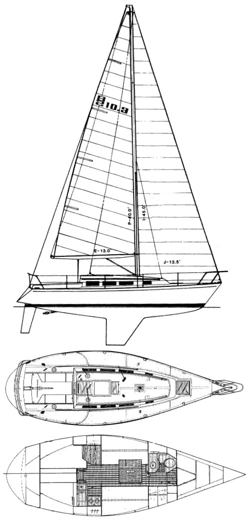 S2 10.3 drawing on sailboatdata.com