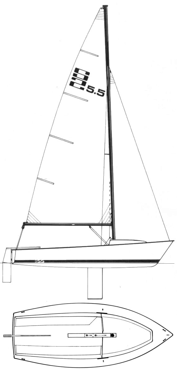 S2 5.5 drawing on sailboatdata.com