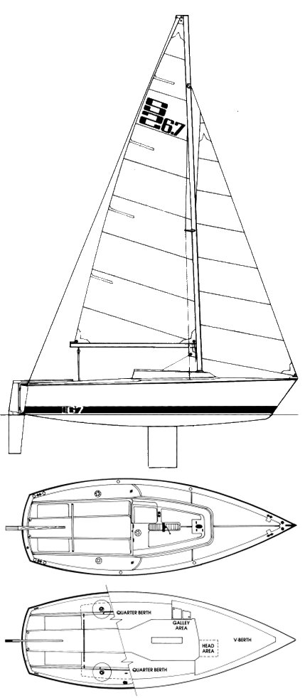 S2 6.7 drawing on sailboatdata.com