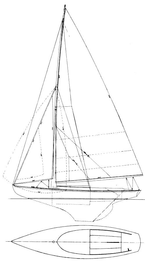 S-CLASS (HERRESHOFF) drawing