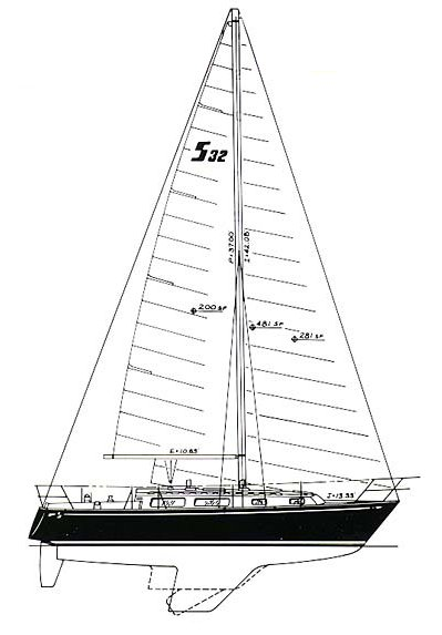 Sabre 32-1 drawing on sailboatdata.com