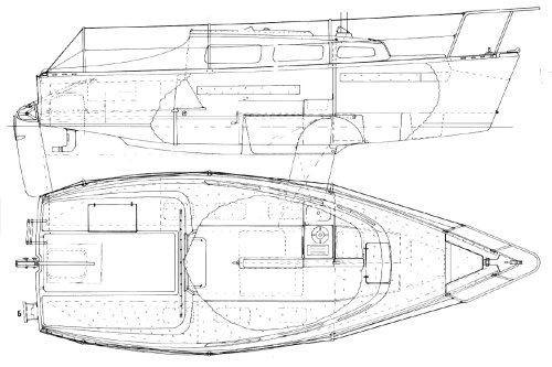 Sabre 22 drawing on sailboatdata.com
