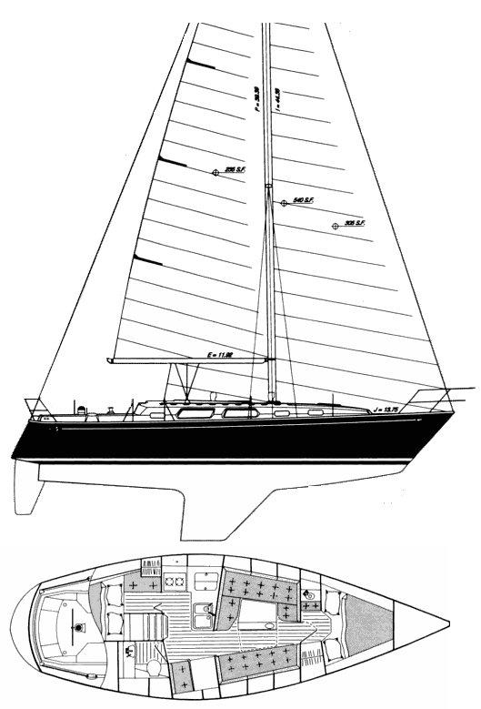 SABRE 34-2 (AFT-CABIN) drawing