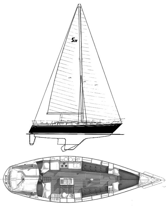 SABRE 38 drawing