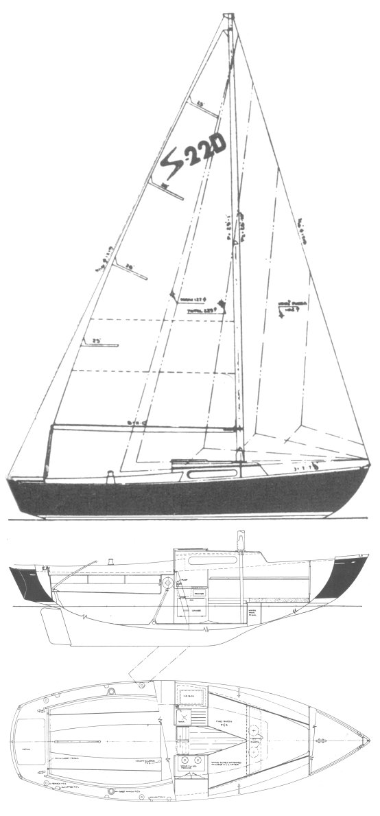 Sailmaster 22 drawing on sailboatdata.com