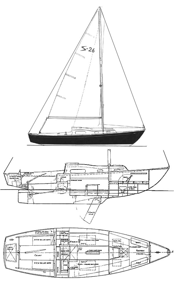 SAILMASTER 26 drawing