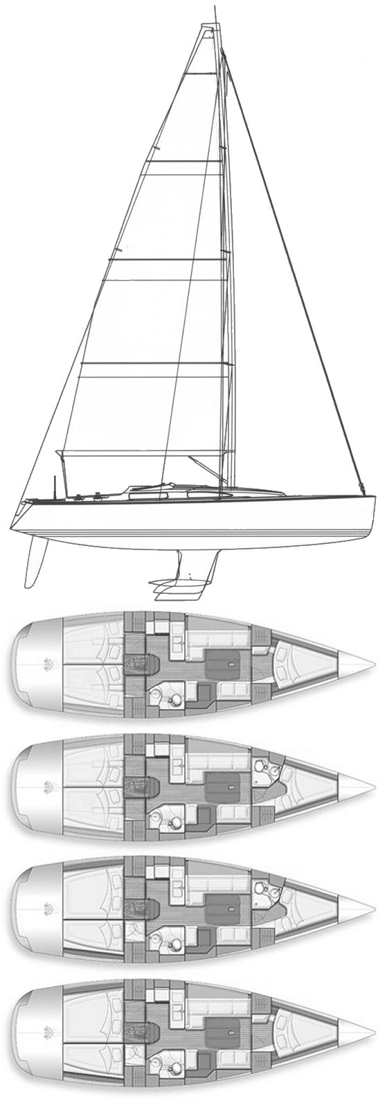 salona 42 sailboat specifications and details on sailboatdata com