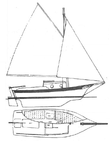 Salt 19 drawing on sailboatdata.com