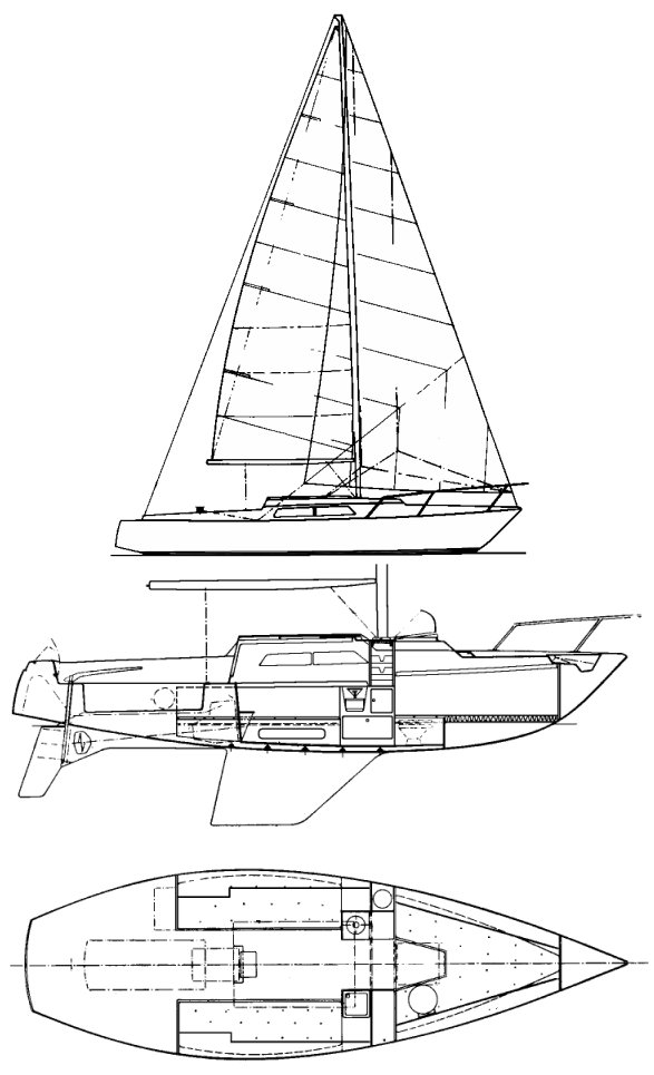 Samourai MkI (CNSO) drawing on sailboatdata.com
