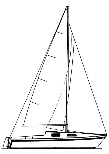 San Juan Mk II drawing on sailboatdata.com