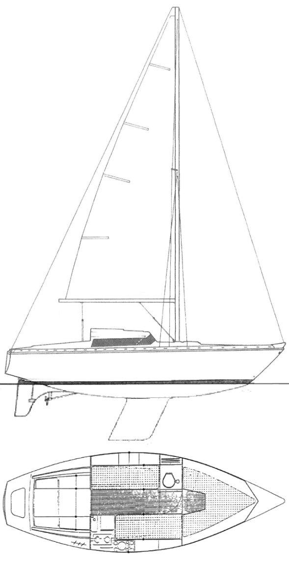 SANGRIA 25 (JEANNEAU) drawing