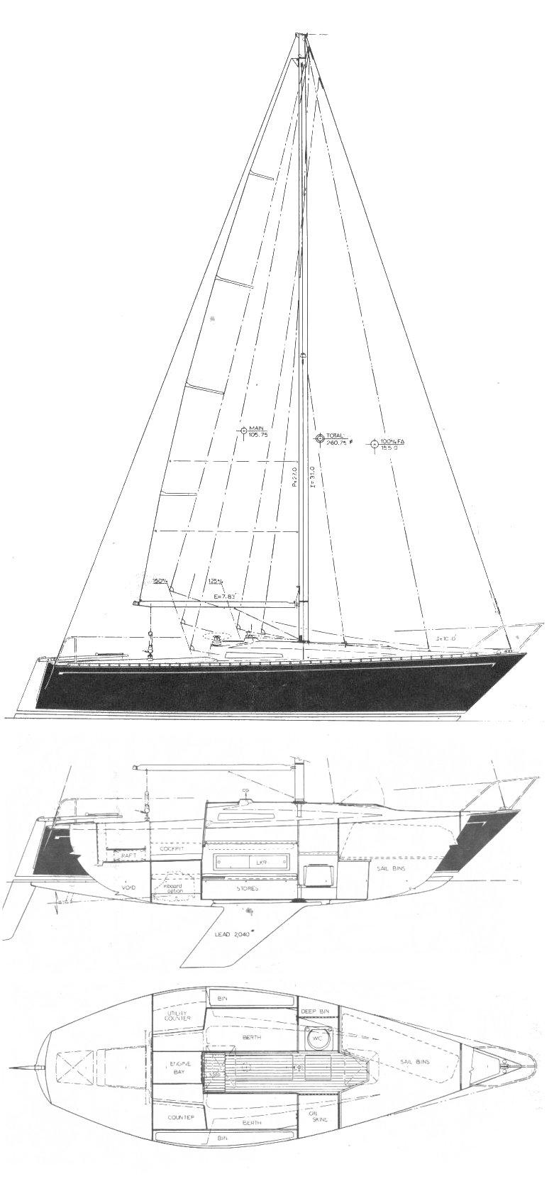 SANTANA 25-2 drawing