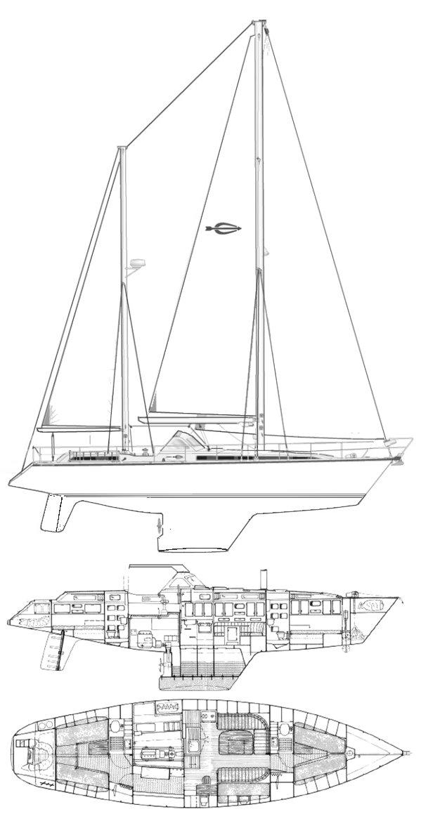 SANTORIN 46 (AMEL) drawing