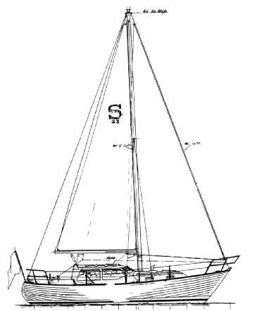 Saturna 33 drawing on sailboatdata.com