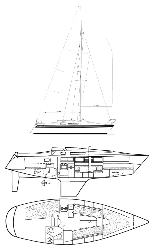 Scanmar 31a drawing on sailboatdata.com