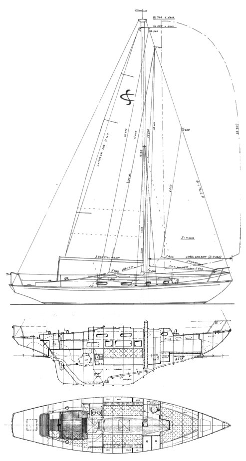 Schelin Cruiser drawing on sailboatdata.com