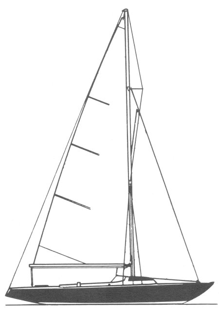 Schock 25 drawing on sailboatdata.com