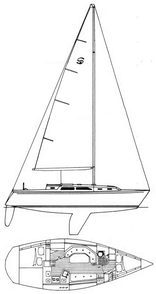 Schock 34 PC drawing on sailboatdata.com