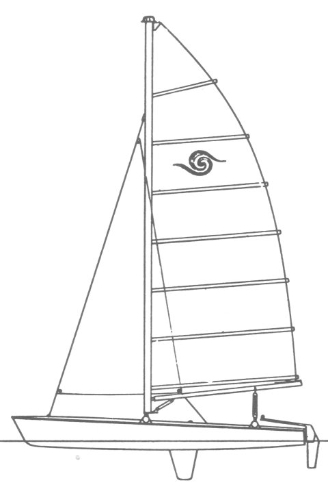 Sea Spray 18 drawing on sailboatdata.com