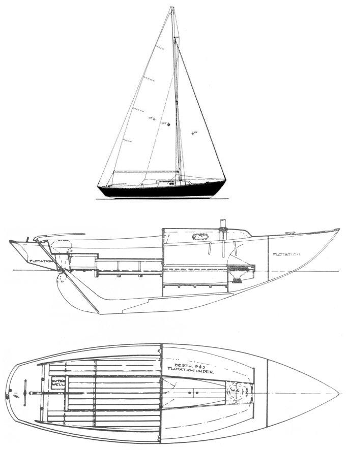 SEA SPRITE 23 (DAYSAILOR) drawing