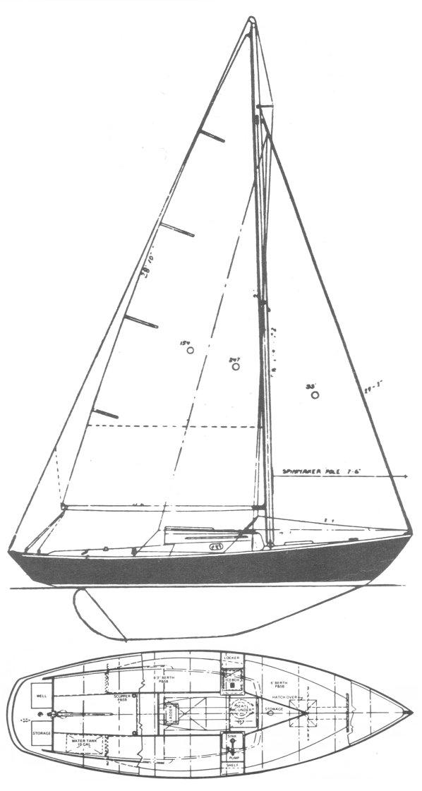 SEA SPRITE 23 (WEEKENDER) drawing