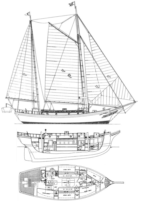 Sea Witch Class (Angelman) drawing on sailboatdata.com
