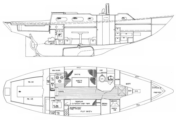 SEABREEZE 35 CITATION (ALLIED) drawing