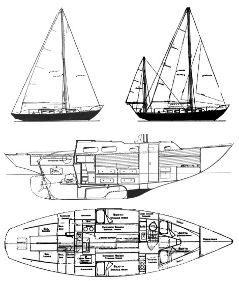 SEABREEZE 35 (ALLIED) drawing