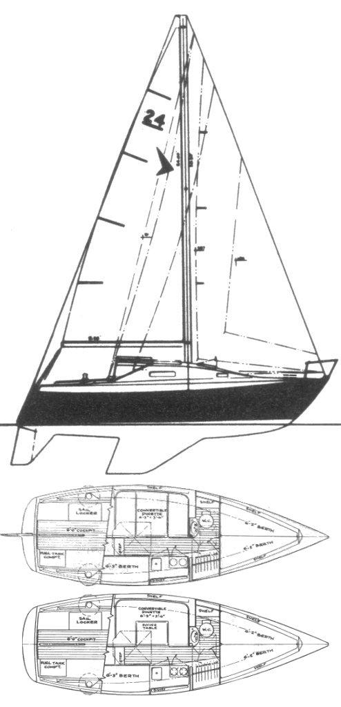 SEAFARER 24 drawing