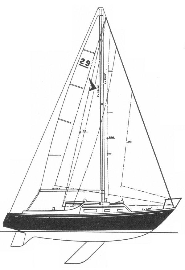 SEAFARER 29 CB drawing