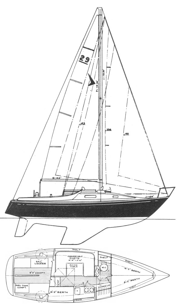 SEAFARER 29 drawing