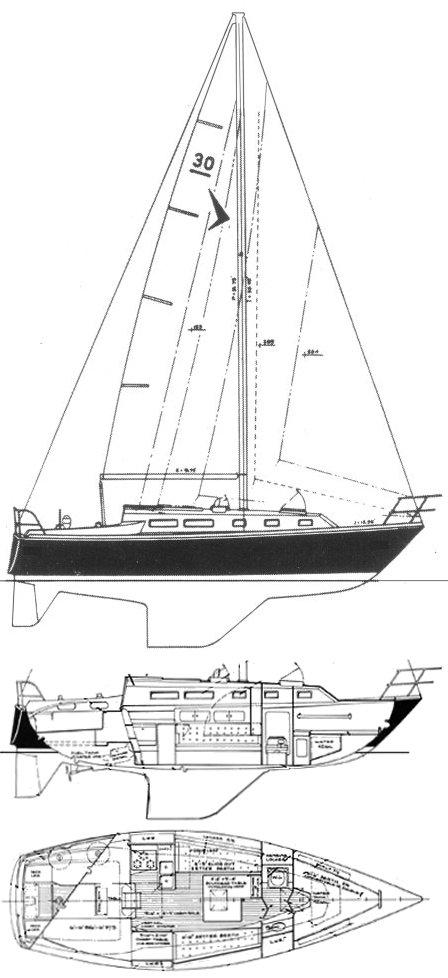 SEAFARER 30 drawing