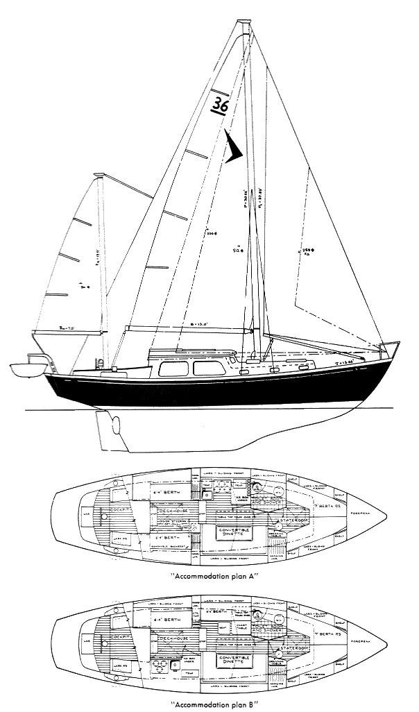 SEAFARER 36C drawing