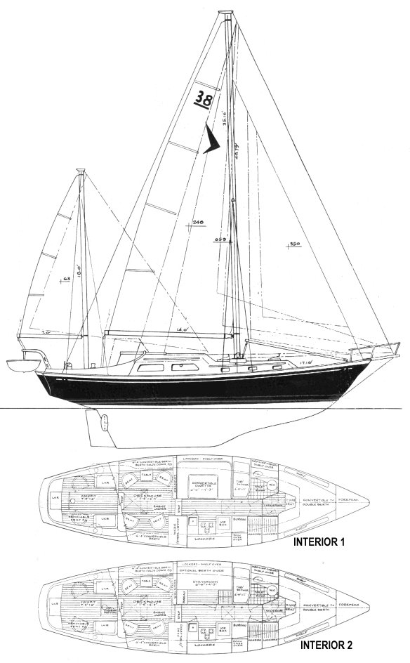 SEAFARER 38C KR drawing