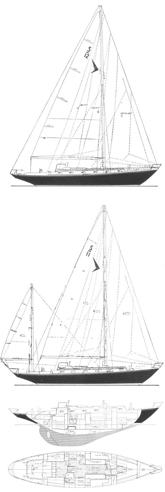 SEAFARER 45 drawing