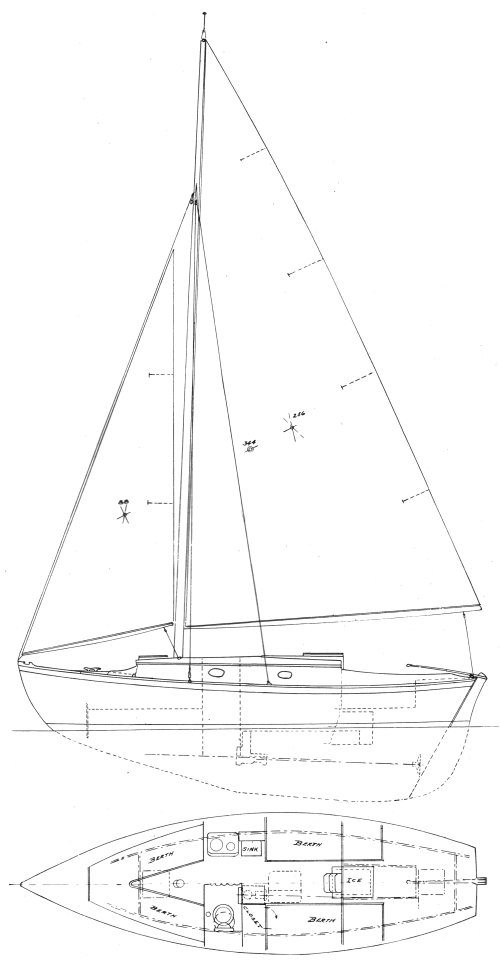 Seafarer (Herreshoff) drawing on sailboatdata.com