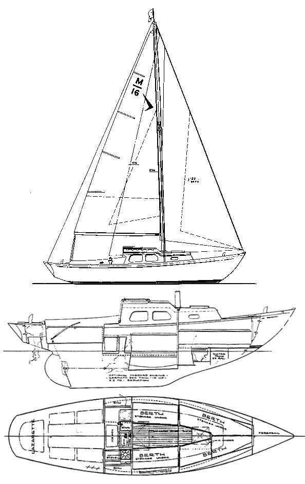 MERIDIAN 25 (SEAFARER) drawing