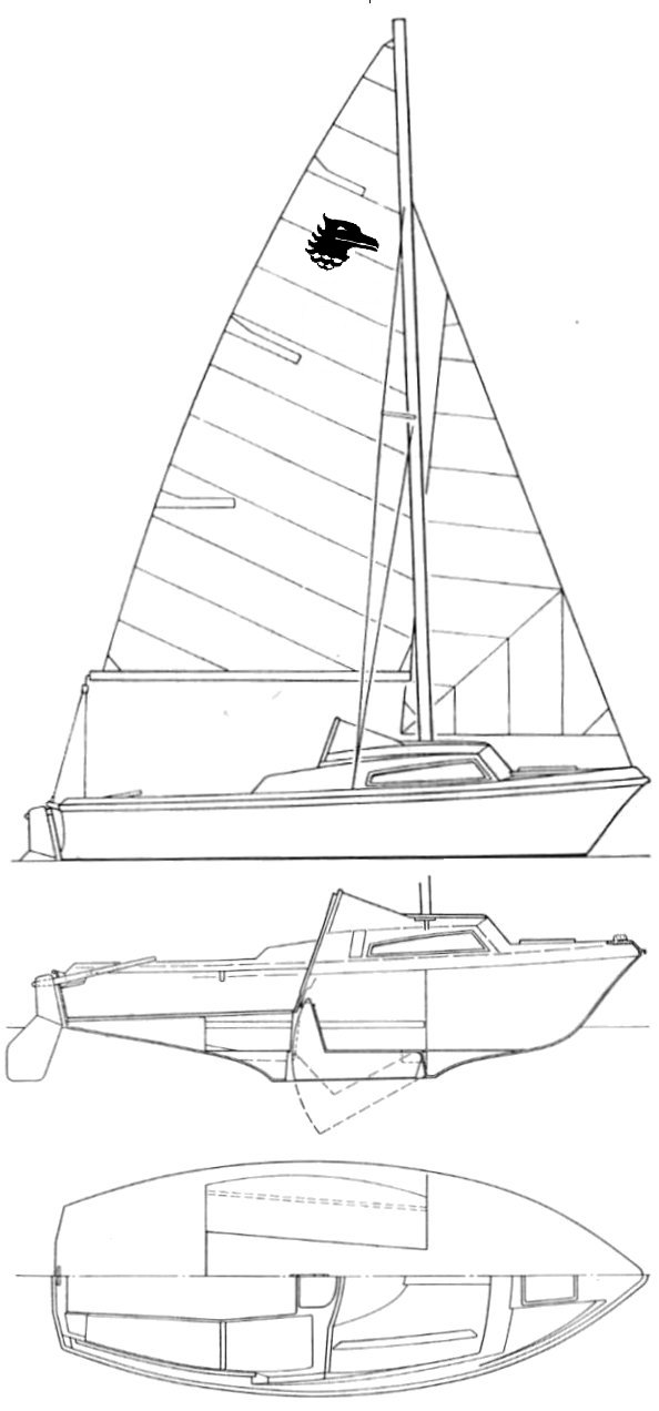 Seahawk 17 drawing on sailboatdata.com