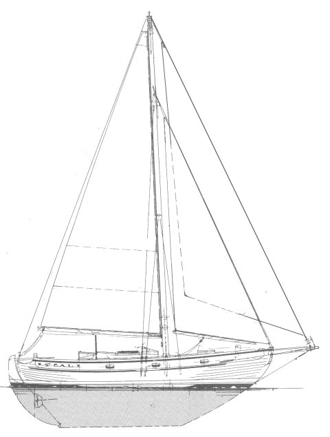 Seal 37 (Garden) drawing on sailboatdata.com