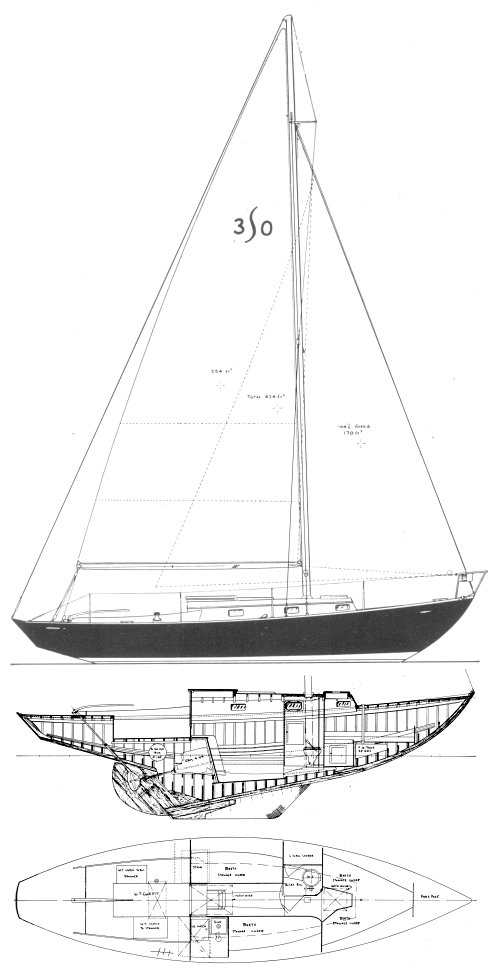 Seaman Seacraft 30 drawing on sailboatdata.com