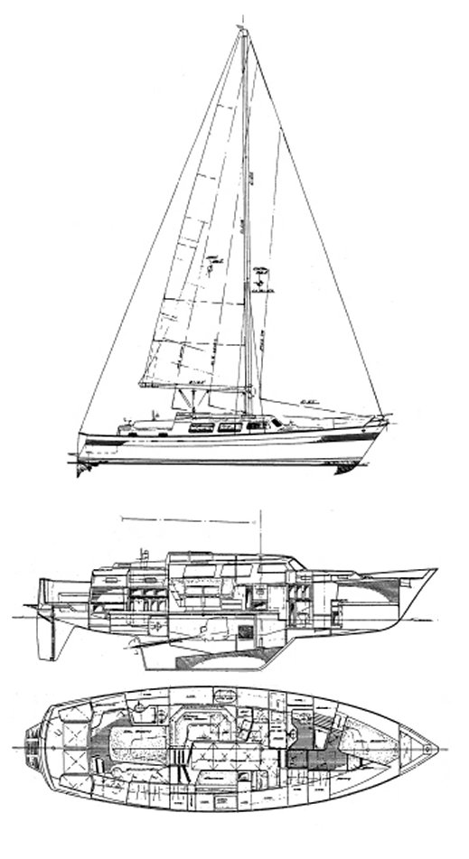 Seamaster 46 drawing on sailboatdata.com